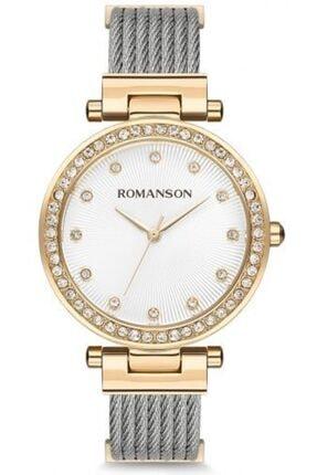 Romanson Kadın Kol Saati Quartz Rm8a31tlgga11g Silver Gold
