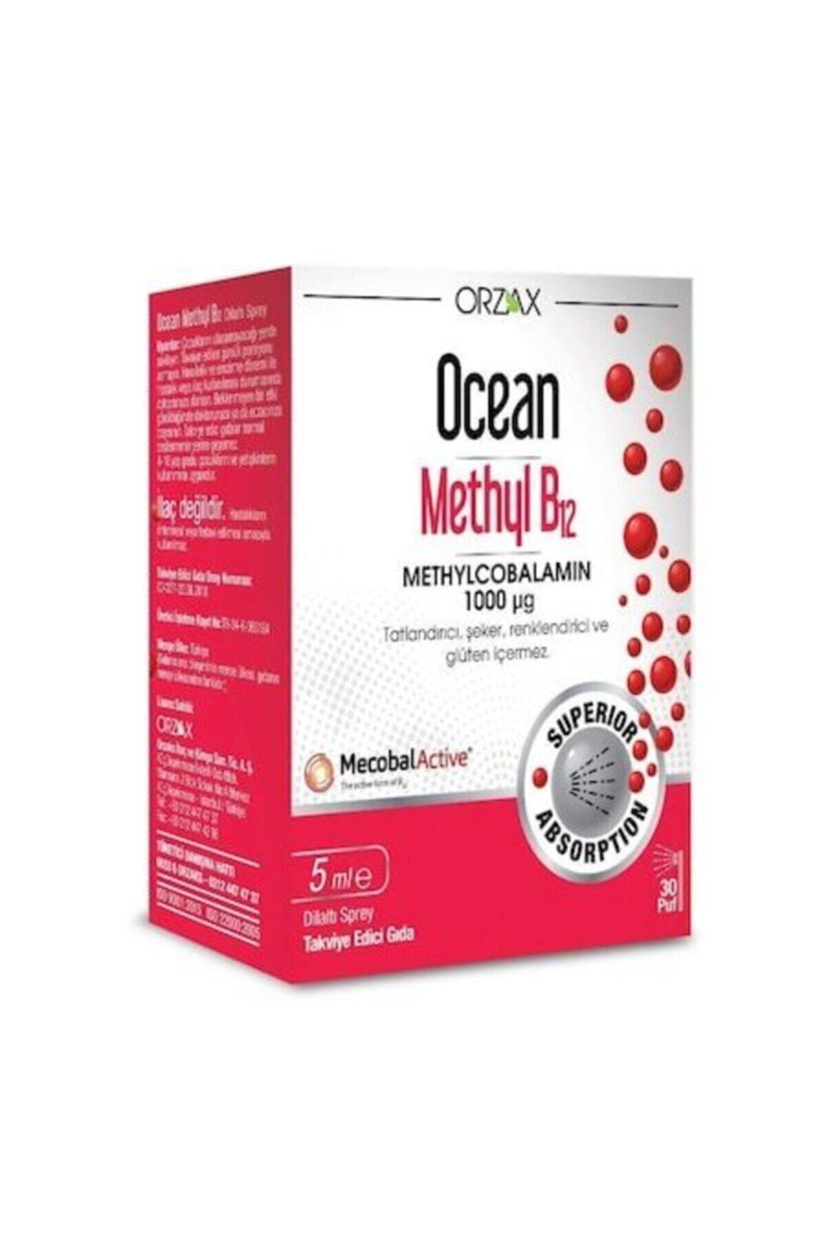Ocean Orzax Methyl B12 Sprey 1000 Mcg 5ml 1
