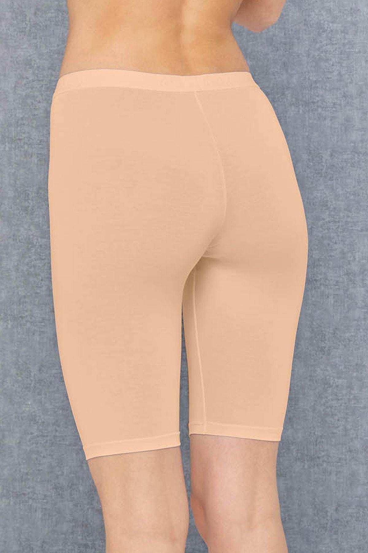 Doreanse Kadın Modal Ten Rengi Şort Sıkılaştırıcı Tayt 9900 2