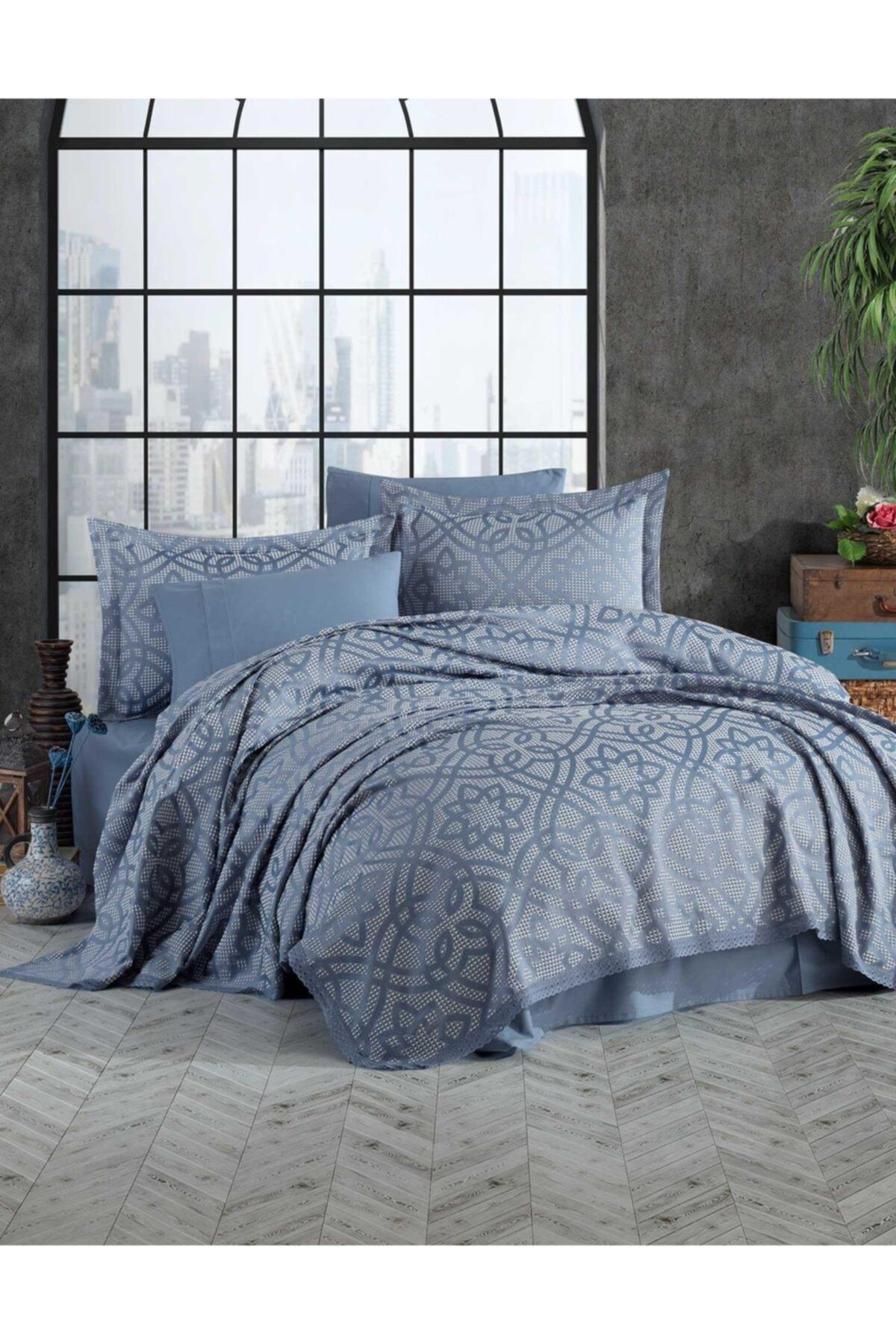 Elart Yatak Örtüsü Alen Mavi Tek Kişilik 1
