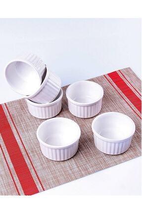 Cooker 6 Lı Beyaz Renk Sufle Fırın Kabı