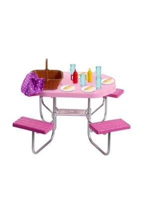 Barbie Ev Dışı Dekorasyon Aksesuarları - Piknik Masası Seti FXG40-FXG37