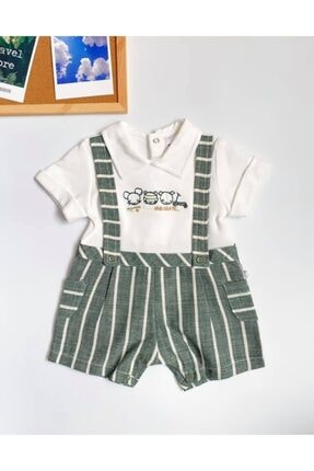 Baby Z Erkek Bebek Yeşil Salopet Tulum