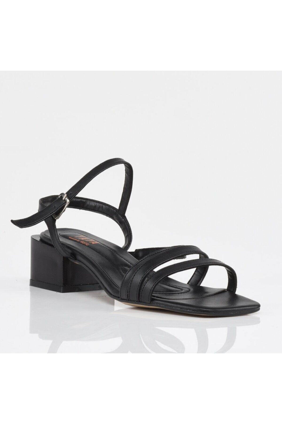 Hotiç Siyah Yaya Kadın Sandalet 2