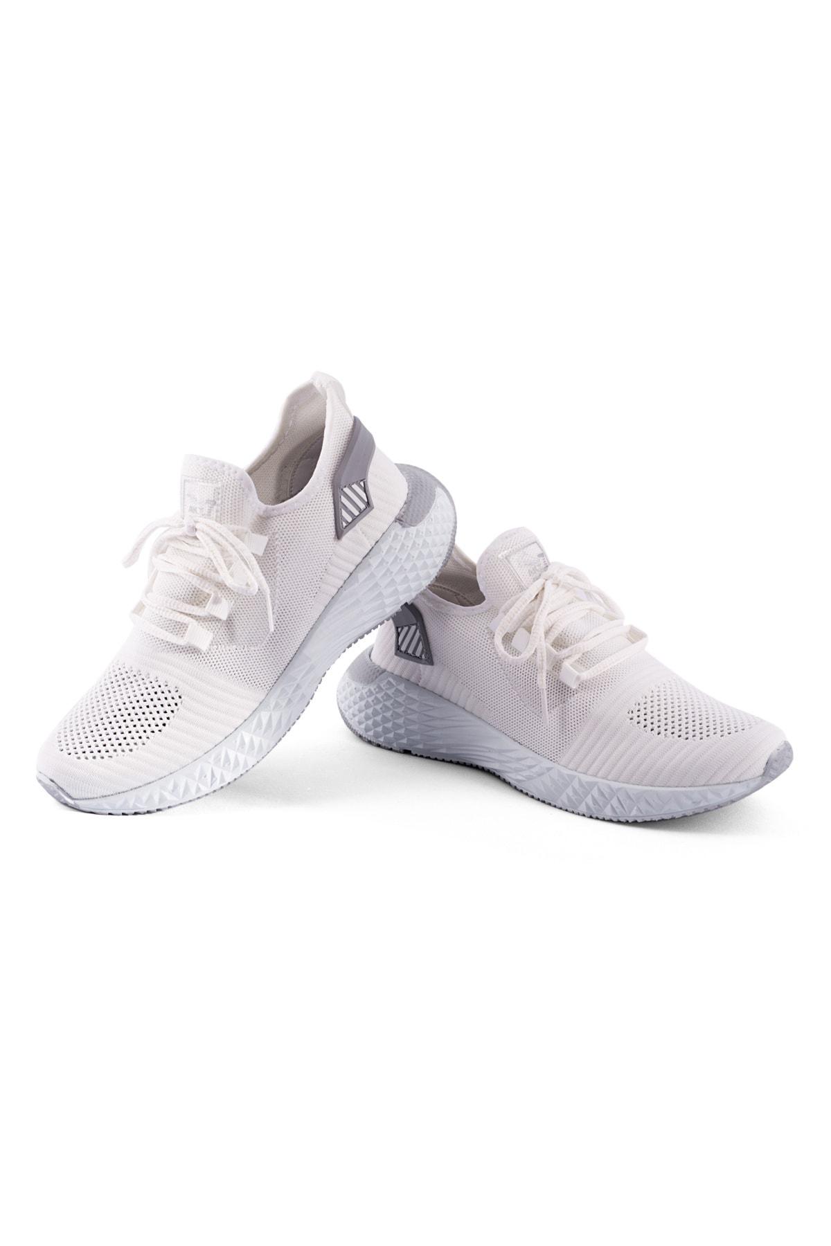 AKX 7 132 Beyaz Renk Beyaz Taban Erkek Spor Ayakkabı 2