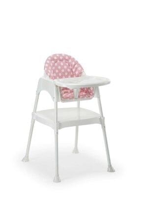 Moje Mama Sandalyesi Kılıflı Pembe-Gri