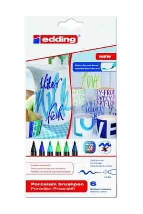 Edding 4200 Porselen Kalemi 6'lı Soğuk Renkler