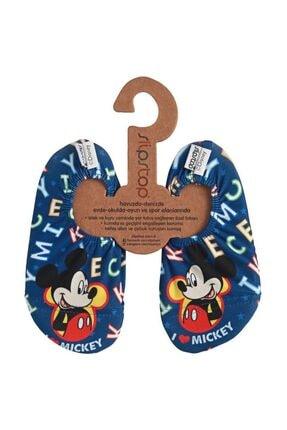 SLIPSTOP Disney Mickey Unisex Çocuk Mavi Deniz Ayakkabısı