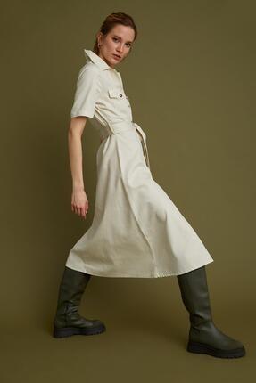 DeFacto Lyocell Kemer Detaylı Gömlek Elbise