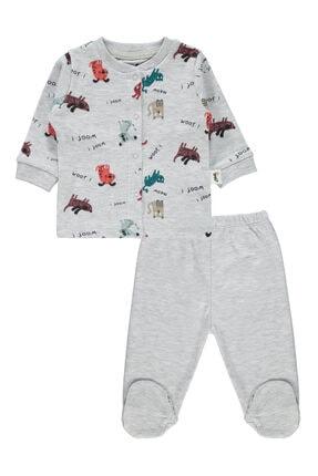 Civil Baby Erkek Bebek Pijama Takımı 0-6 Ay Gri