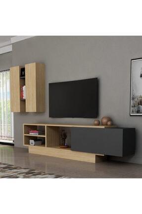 ARNETTİ Bengü Tv Ünitesi Yaşam Odası, Salon, Ve Oturma Odası, Tv Sehpası Safirmeşe-antrasit