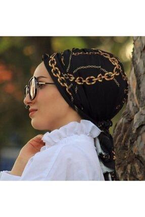 Sahra Şal Dünyası Kadın Desenli Tokalı Bone