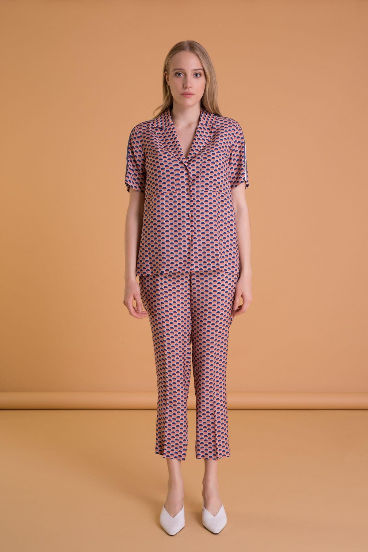 GIZIA CASUAL Karışık Renkli Havuç Kesim Cepli Pantolon 1