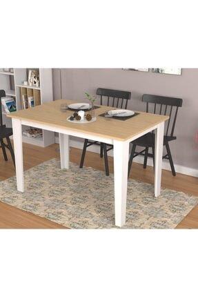 Nettrends New Mutfak Yemek Masası 120 Cm Beyaz Meşe