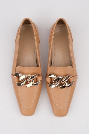 Marjin Kadın Bej Loafer Ayakkabı Novle