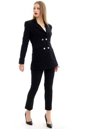 R&M Collection Kadın siyah Blazer Ceket Pantolon Takım