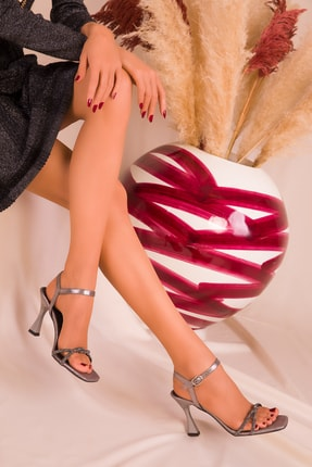 SOHO Platin Kadın Klasik Topuklu Ayakkabı 15961