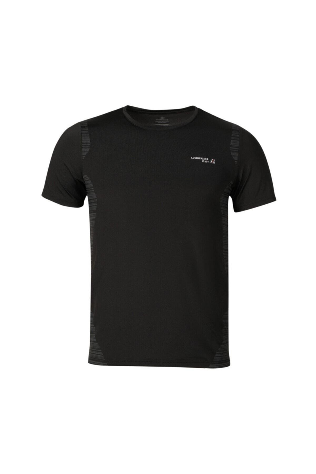 lumberjack CT452 DALE T-SHIRT Siyah Erkek T-Shirt 100582756 1