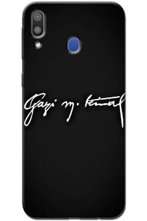 Turkiyecepaksesuar Samsung Galaxy M30 Uyumlu Desenli Kılıf + Tam Ekran Kaplayan Kırılmaya Dayanaklı 5d Cam