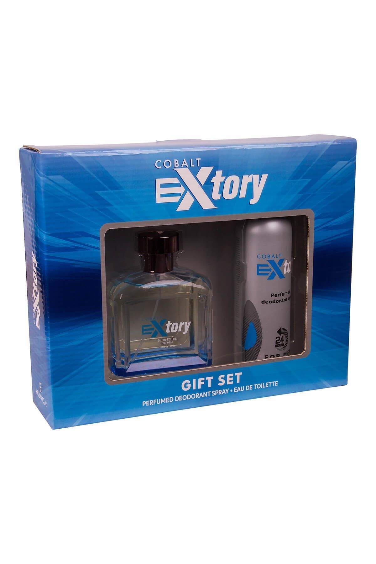 Extory Cobalt Edt 100 ml Erkek Parfüm Seti 9859869879881-2943 1