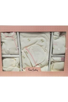Pierre Cardin Baby Bebek Ekru Çiçek 10 Parça Hastane Çıkışı 301373