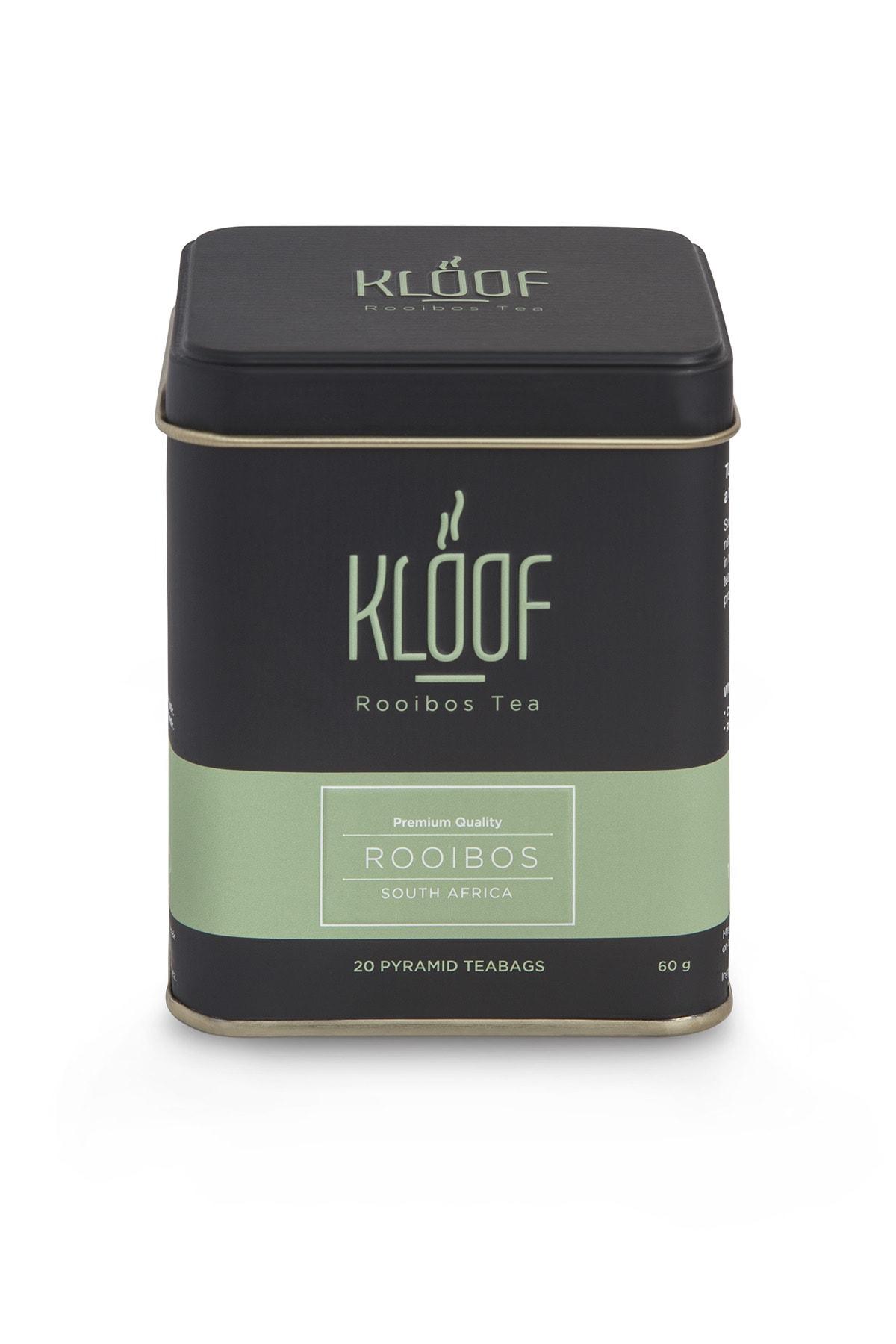 KLOOF Rooibos Tea Kafeinsiz, Bağışıklık Sistemini Güçlendiren Roybos Çayı 20'lipiramit Poşet 60gr 1