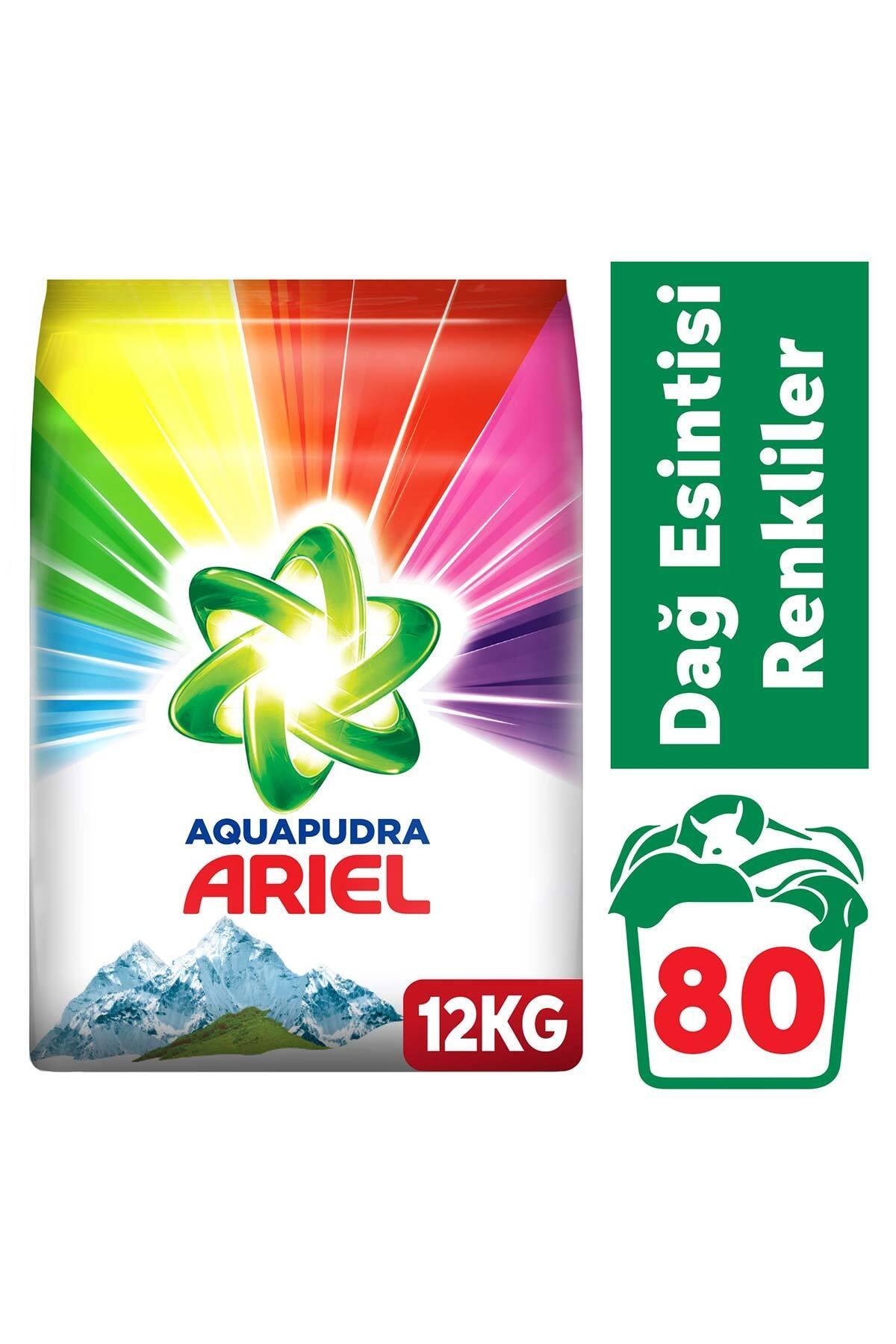 Ariel 12 kg Toz Çamaşır Deterjanı Dağ Esintisi Renkliler İçin 1