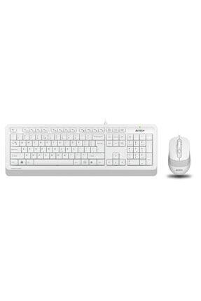 A4 Tech Q Tr Usb Multimedia Kablolu Klavye Mouse Seti Beyaz F1010