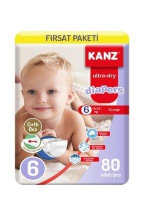 Kanz Mega 6 Numara Bebek Bezi 80 Adet 15-25 Kg