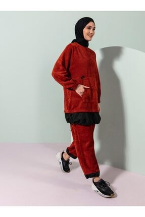 Loreen Kadın Kiremit  Ikili Takım Tunik Pantolon