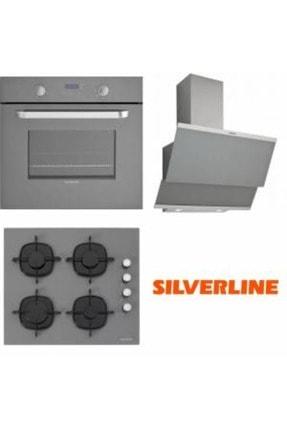 Silverline Gri Cam Ankastre Set BO6181S02 - CS5335S01 - 3420 Classy