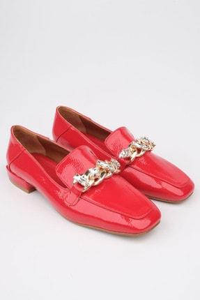 Marjin Kadın Kırmızı Rugan Loafer Ayakkabı Bifan