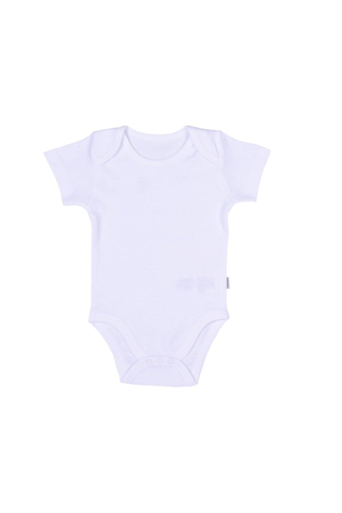 kitikate Kız Bebek Beyaz Organik Angel Amerikan Yaka Body 86591 2