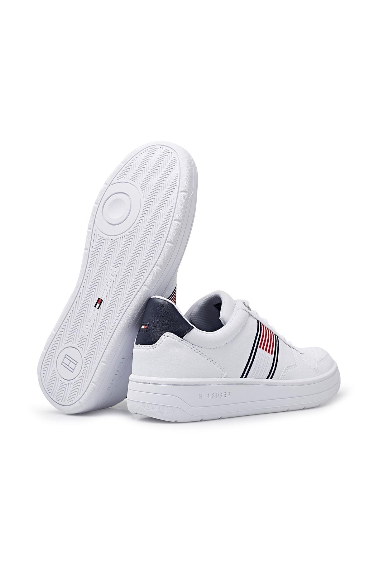 Tommy Hilfiger Erkek Th Basket Low Cupsole Sneaker 2
