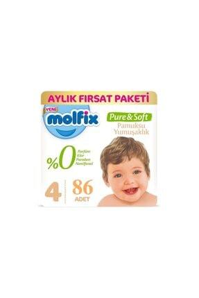 Molfix Pure Soft Bebek Bezi Maxi No:4 7-14 Kg 86 Adet