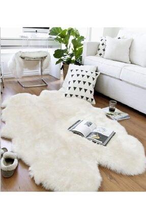 GizHome Beyaz Alaska Peluş Post Halı 120x180  cm