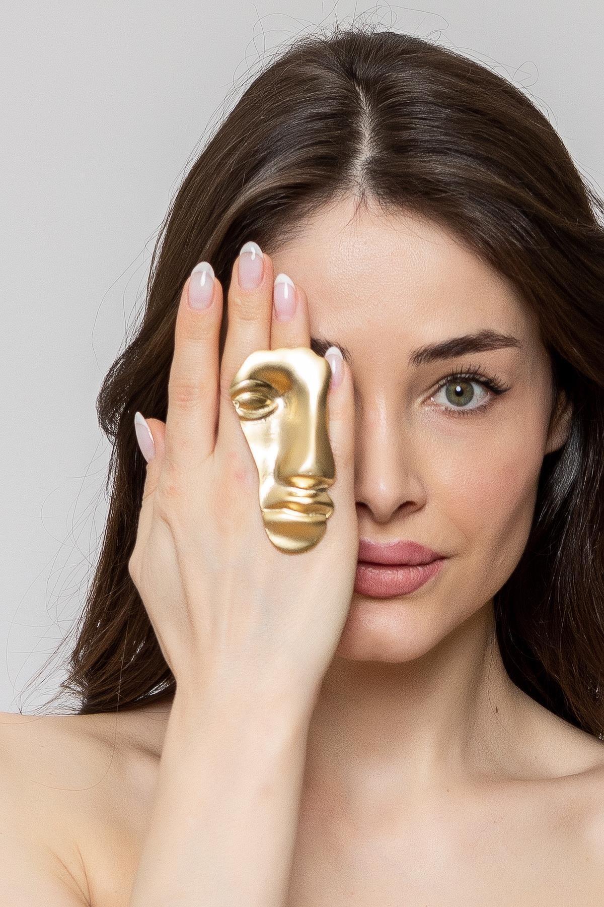 ZeyDor Accessories Kadın Gold Silüet Yüzük 1