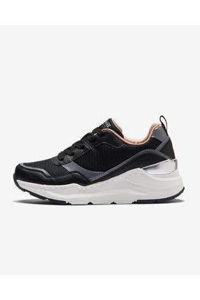 SKECHERS ROVINA - CLEAN SHEEN Kadın Siyah Spor Ayakkabı