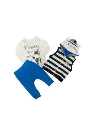 Tongs Baby Unisex Mavi 3 Lü Takım