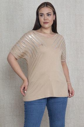Şans Kadın Vizon Payet Detaylı Viskon Bluz 65N22908