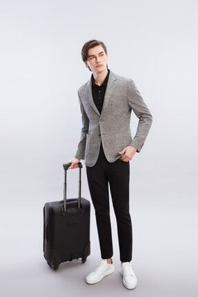 W Collection Gri Örme Ceket