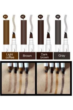 kozmetik evim Kalıcı Kaş Kalemi - Kalıcı Makyaj - Suya Dayanıklı Microblading -kaş Rimeli-dövmesi -koyu Kahve
