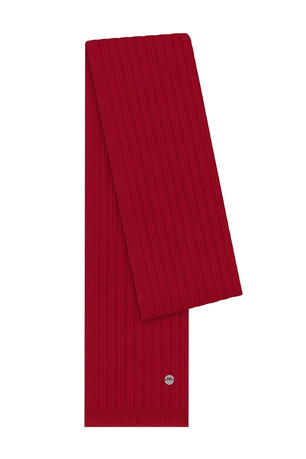 Hemington Erkek Kırmızı Yün Atkı 1