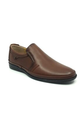 Taşpınar Erkek Kahverengi  Deri Ortopedik Günlük Yazlık Klasik Ayakkabı 40-44