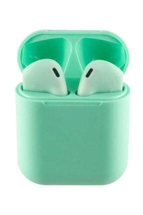 Tws I12 Yeşil Iphone Android Universal Bluetooth Kulaklık Hd Ses Kalitesi