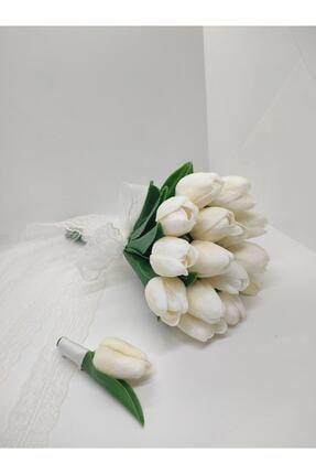 Hobigram Islak Lale Gelin Çiçeği Ve Damat Yaka Çiçeği