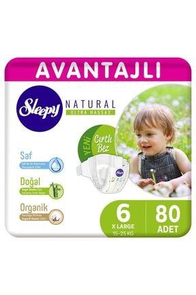 Sleepy Natural Avantajlı Bebek Bezi 6 Numara Xlarge 80 Adet