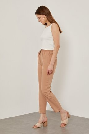 Arma Life Kadın Taş Duble Kumaş Beli Lastikli Pantolon