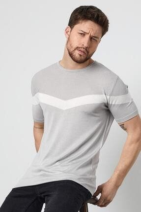 Enuygunenmoda Erkek Slim Fit Pamuklu T-shirt Gri