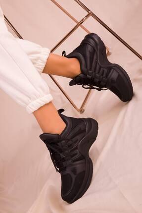 McDark Kadın Siyah Sneaker Spor Ayakkabı